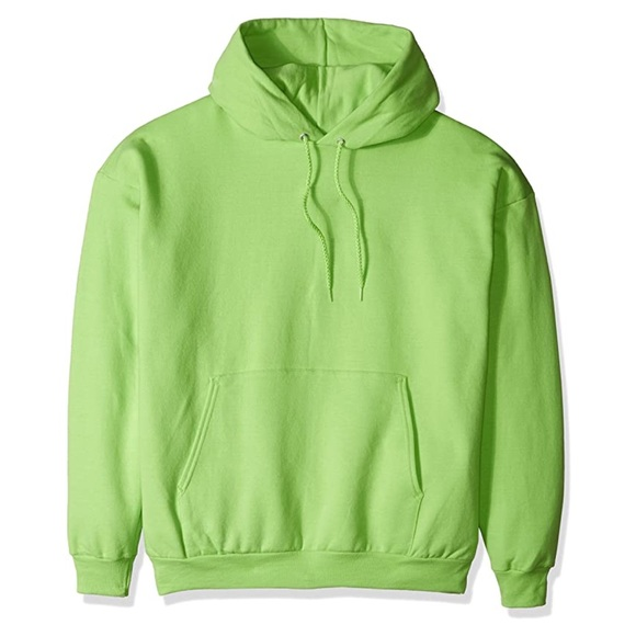Hanes Other - HANES LIME GREEN BASIC HOODIE
